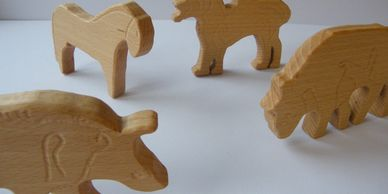 Present Past Historical Crafts - Wooden toys based on European archaeological and pictorial finds