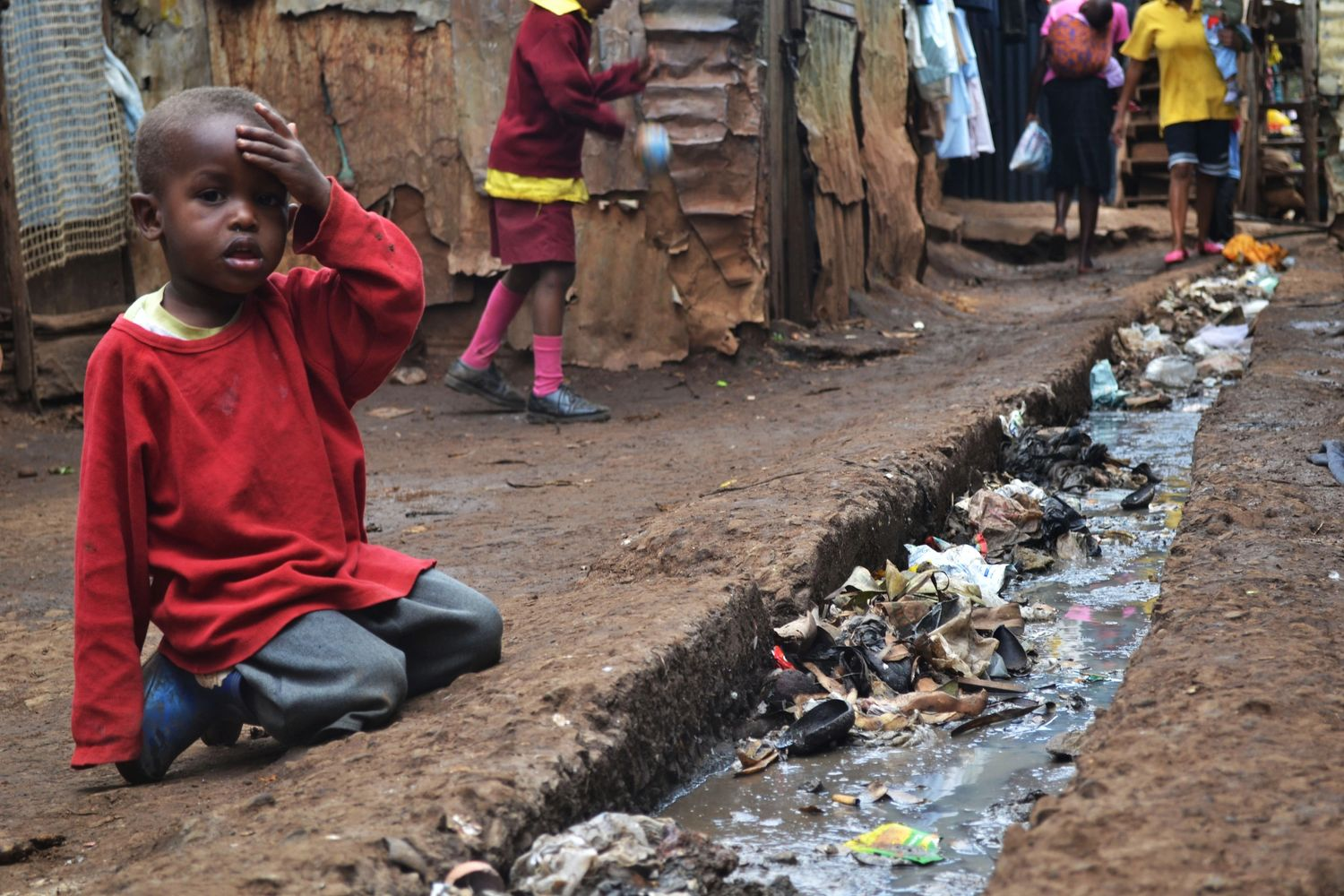 Child In The Kibera Slum, Kenya