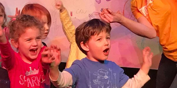 Storytown performs improvised children's musical theater comedy for kids birthday parties in Chicago