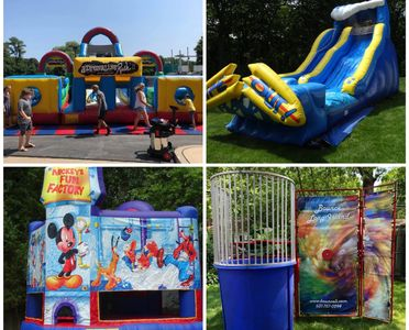 long island, patchogue, bounce houses, slides, obstacles courses