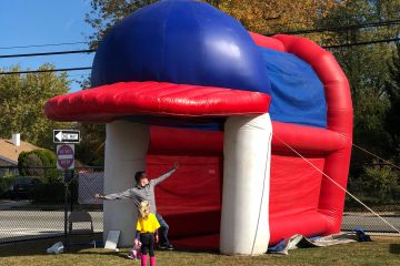 speed pitch, inflatable, bounce house, contest, little league, baseball, softball, sports bouncer