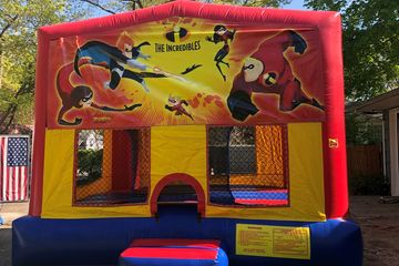 incredibles, action heros,Bounce house, moon walk, bouncer, rental, party, fun, inflatable