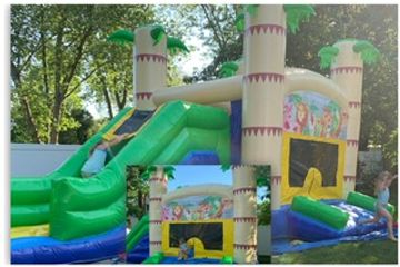 Bounce house, bouncer, rental, jumper, party, combo, dunk tank, water slide, blow up, inflatable