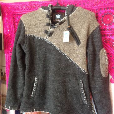 warm yak wool jumper from Nepal, ethically sourced