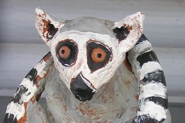 "Hand sculpted lemur by child student ""Sugar"""