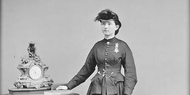 Dr. Mary Walker a POW, A  Woman Army surgeon. And the only woman to receive the Medal of Honor