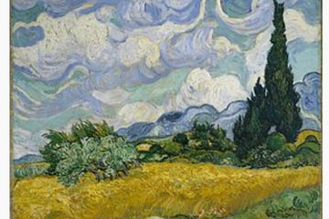 The Whitfield with Cypresses by Vincent van Gogh