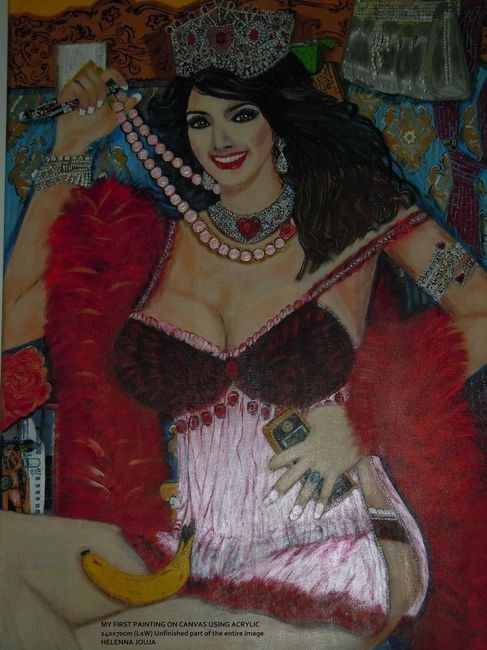 The Material Girl 140x70cm