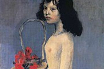 Young girl with a basket by  Pablo Picasso