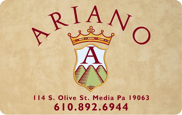 Ariano's Gift Card