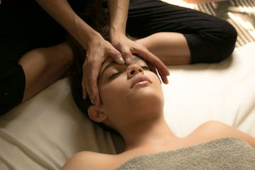 Pregnant women massage therapy with yoga stretchings and reflexology. Mexico city