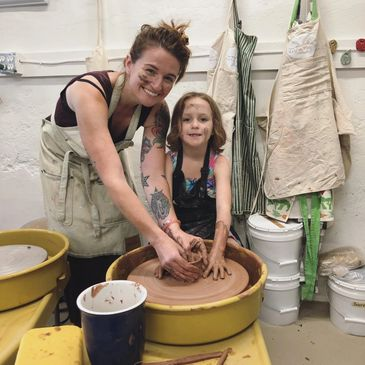 Family time in the Clay Studio