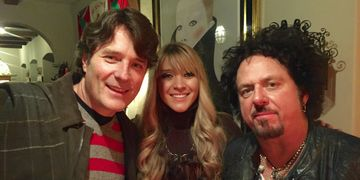 Ken Van Wagenen, Melissa and Steve Lukather at an event in Pasadena, California