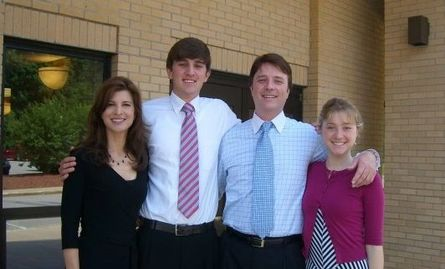 Ryan Van Wagenen, Felicia, Melissa, and Ken Van Wagenen at Church in North Carolina