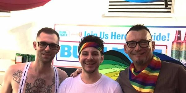 Kane Meyers and Kip Guillotte at San Diego Pride 2019