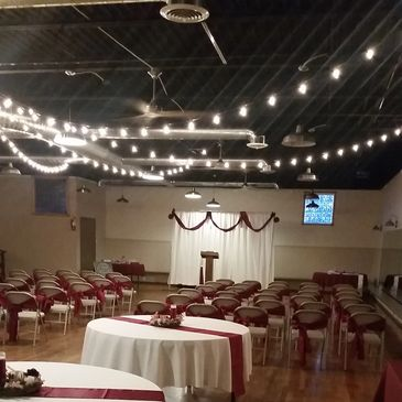 B & B Riverfront Hall can host both your wedding and reception.
