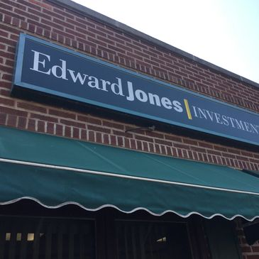 Edward Jones sign reface we printed and installed.