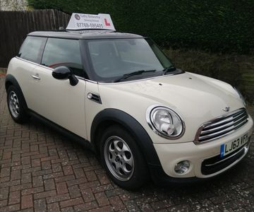 This is the Mini Cooper tuition car used for your driving lessons