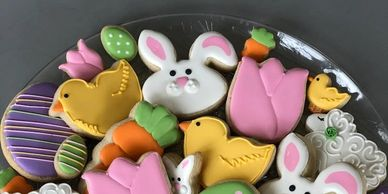 Easter platters - 2 sizes available 30 cookies - $55 20 cookies - $35