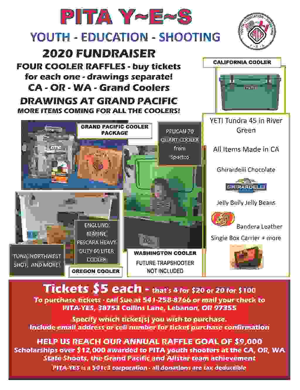 2020 FUNDRAISER CA - OR - WA - Grand Coolers DRAWINGS AT GRAND PACIFIC