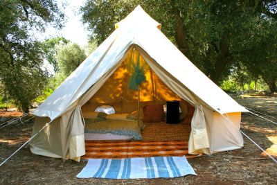 Yurt style tents available for rent