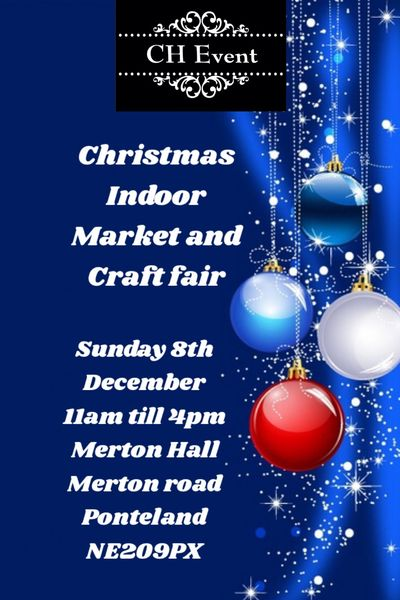 Christmas Indoor Market and Craft Fair  Merton Hall December 8th 2019