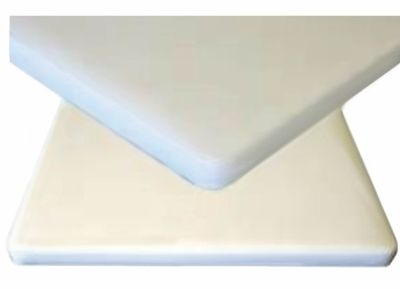 White Padded Vinyl Table Tops.