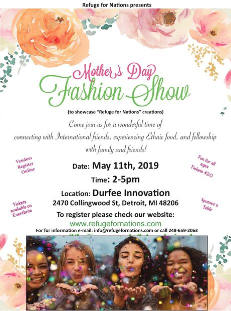 Refuge for Nations Mother's Day Fashion Show