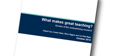 Image of 'What makes great teaching' report