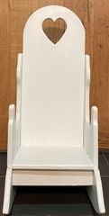 White Antique Solid Wood High-back rocking chair for First Birthday Party Pictures.