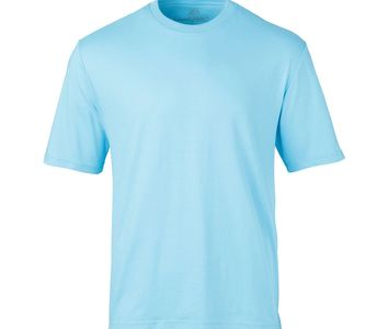 Mens 100% Cotton Aqua T-Shirt