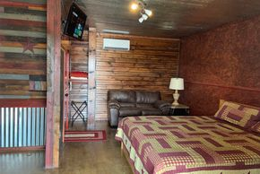 Take a HIke Cabin at The Lazy Buffalo Cache Oklahoma vacation Lawton Fort Sill  Wichita Mountains