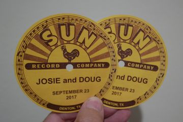 custom printed record label stickers