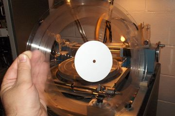 custom records clear vinyl LP album one-off lathe-cut