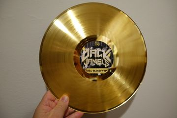 custom vinyl records gold silver platinum award one-off lathe cut