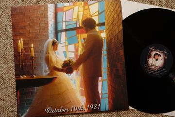 custom vinyl records printed sleeve jacket cover one-off wedding