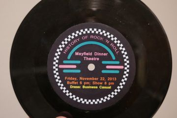 "custom printed invitation vinyl records promotional dinner music event 7"" 45rpm personalized"
