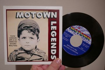 "custom printed invitation vinyl records motown birthday 7"" 45rpm personalized"