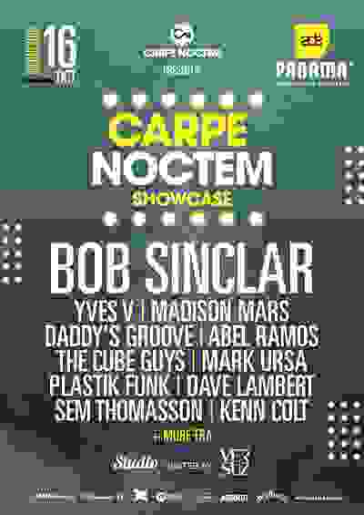 the carpe noctem party at panama club during ADE Amsterdam dance event with bob sinclar