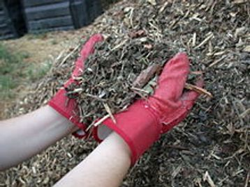 mulch, wood, chips, organic, matter, recycle, green