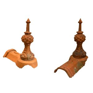 French Terracotta Roof Finials