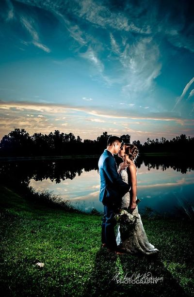 The Oaks Events Wedding Venue, Midland, NC, Michael A Anderson Photography,  kissing by the lake