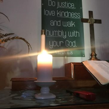 Image of our Alter. We believe in placing high emphasis on putting faith and love in action.