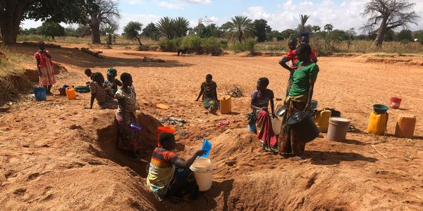 Water Crisis Shortage of Water African Villagers Digging For Water Thirsty Find in Africa