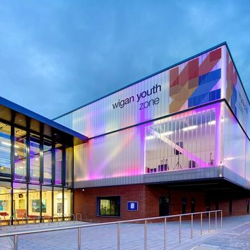 Glass Profiled Solutions - Pilkington Profilit Wigan Youth