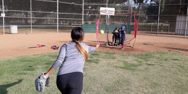 santa monica softball academy spring training!