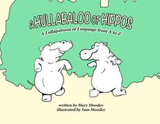 Cover design with dancing hippos