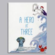 Cover design shows creatures the hero meets.