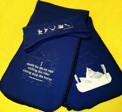 soft scarf & ski band set with text from Christopher Counts The Constellations
