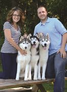 Tim & Megan Terrella, owners of Snoebear Siberian Kennels